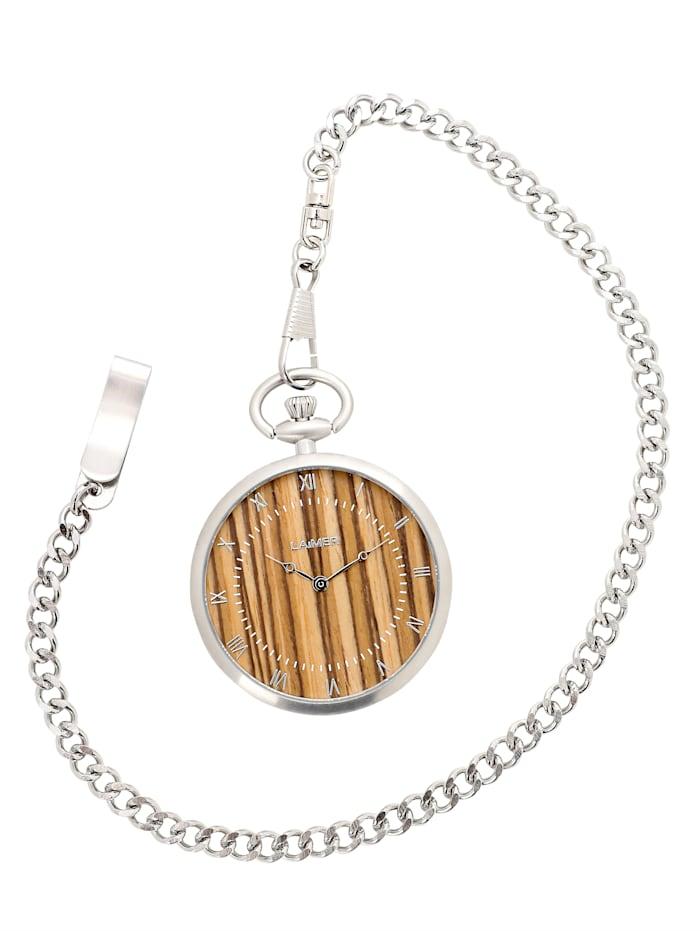 Laimer Taschenuhr 0128, Braun