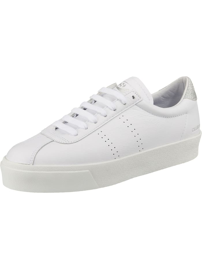 Superga 2854 Club 3 Comfeaglitterw Sneakers Low, weiß/grau