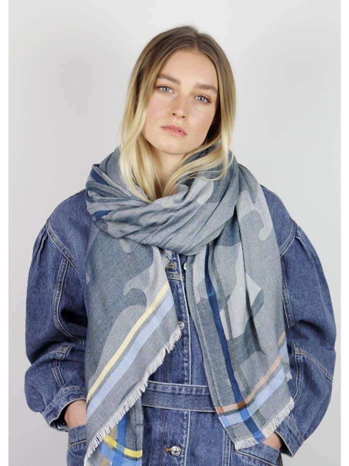 Jacquard-Schal aus edler Viskose