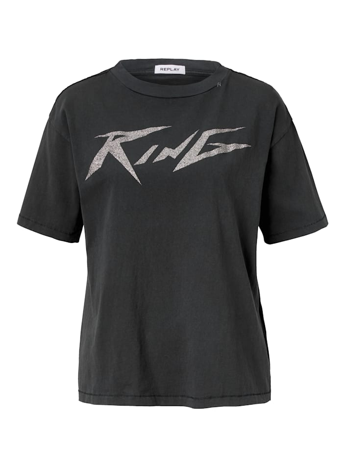 REPLAY T-Shirt, Schwarz