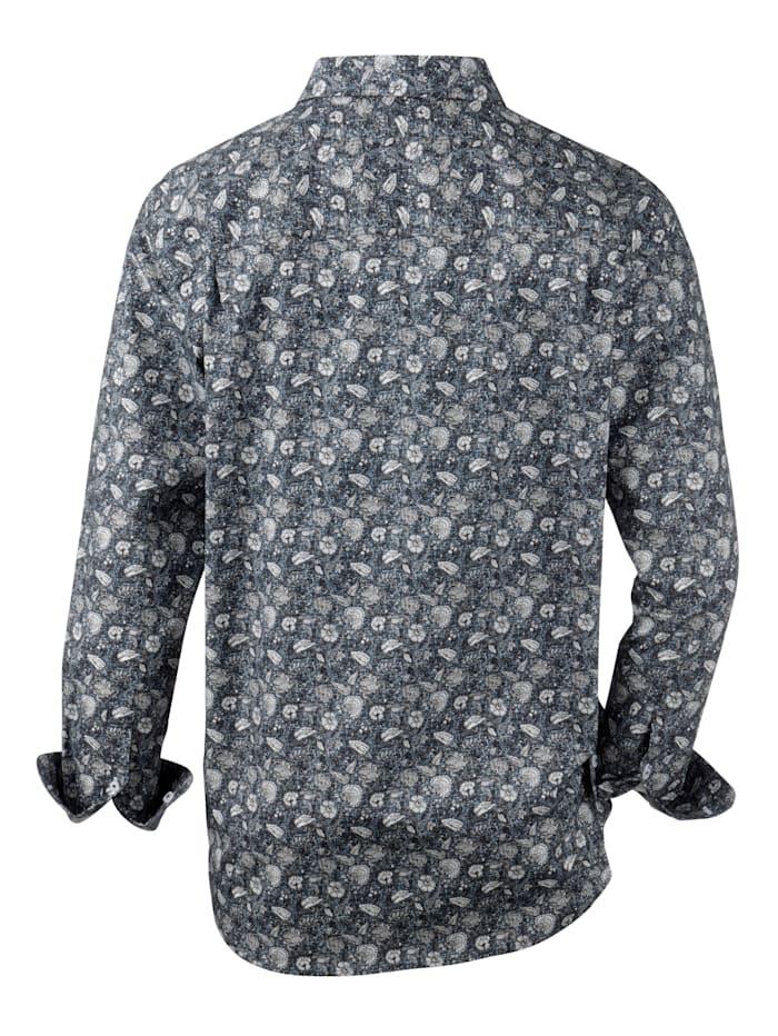 Chemise à motif fleuri