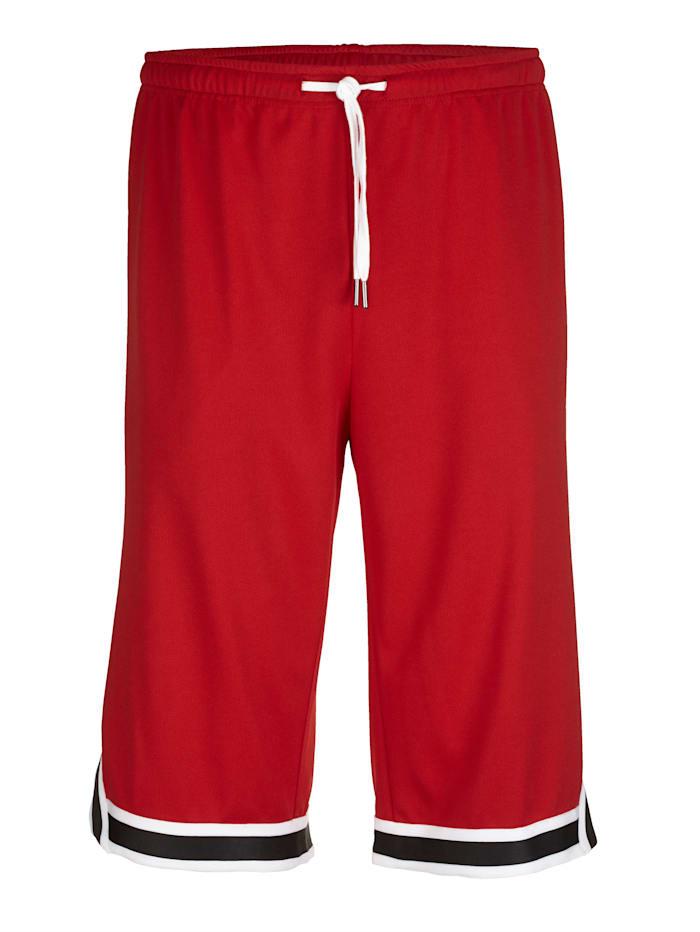 Men Plus Shorts, Rød/Svart/Hvit