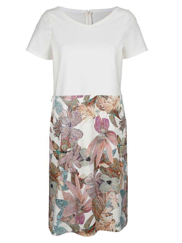 Kleid mit Dschungel-Print im Rockteil