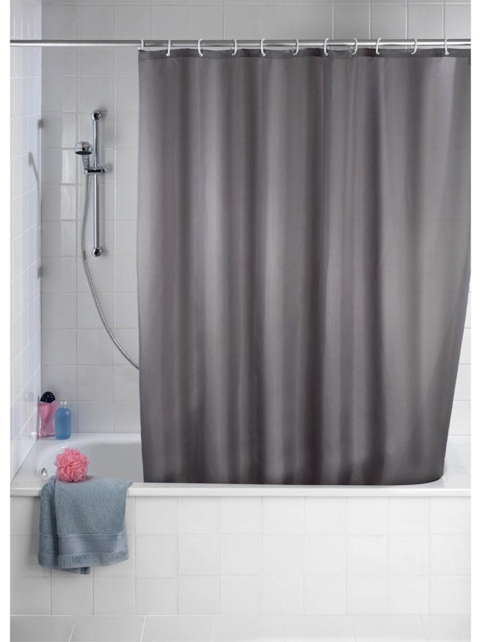 Duschvorhang Uni Grau, Textil (Polyester), 240 x 180 cm, waschbar
