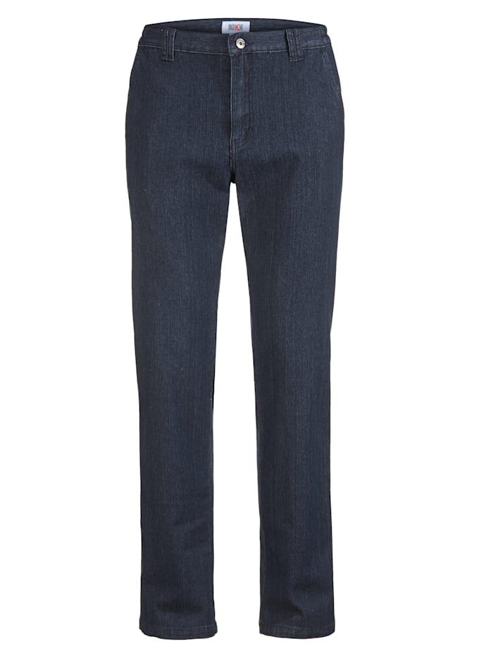 Roger Kent Jeans mit schrägen Eingrifftaschen, Blue stone
