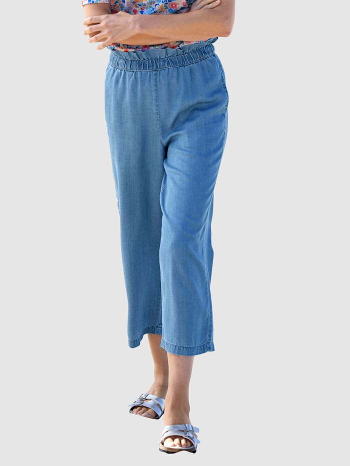basically you Culotte aus Tencel, Blue bleached