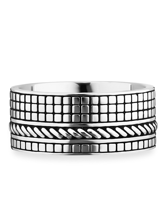 CAI Ring 925/- Sterling Silber Glänzend 925/- Sterling Silber, Silbergrau