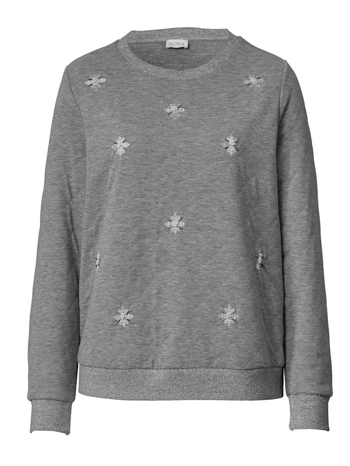 Sweatshirt met borduursels