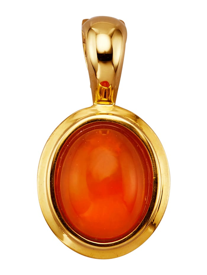Amara Pierres colorées Pendentif clip avec opale, Orange