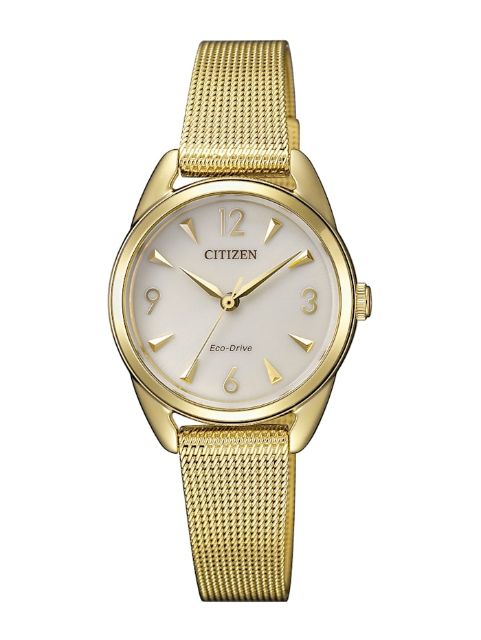 Citizen Damenuhr Eco-Drive EM0687-89P, Gelbgoldfarben