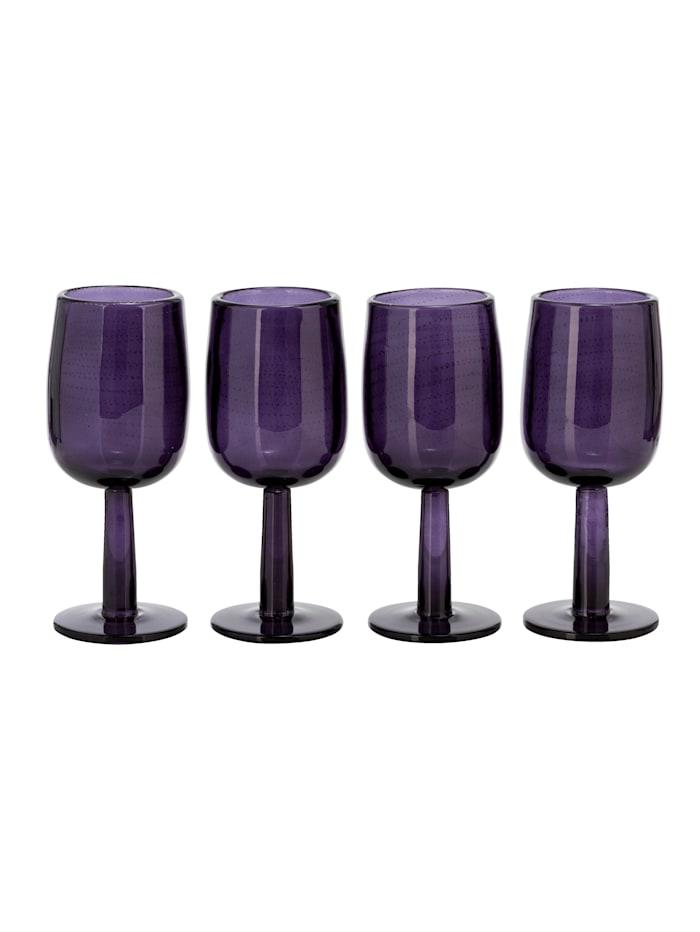 IMPRESSIONEN living Lot de 4 verres, Lilas