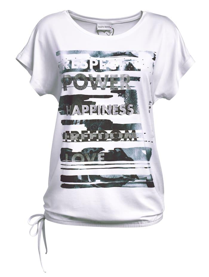 Shirt mit platziertem Druck und Steinchen im Vorderteil