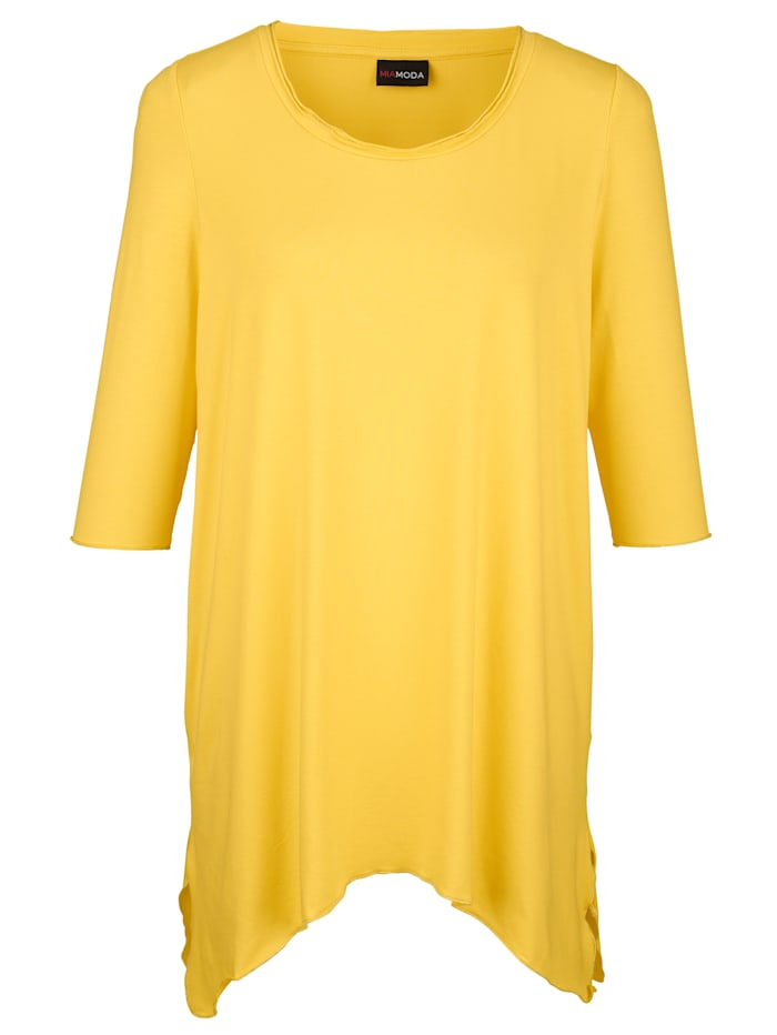 Epäsymmetrinen paita kimallereunoin