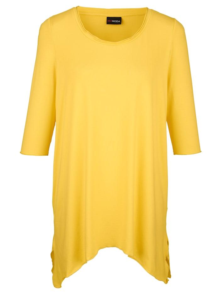 Tričko s lesklou priadzou na spodnom ukončení
