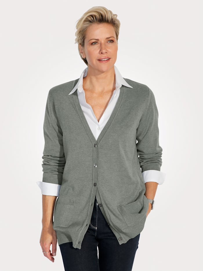 MONA Cardigan made from a super soft fabric, Grey