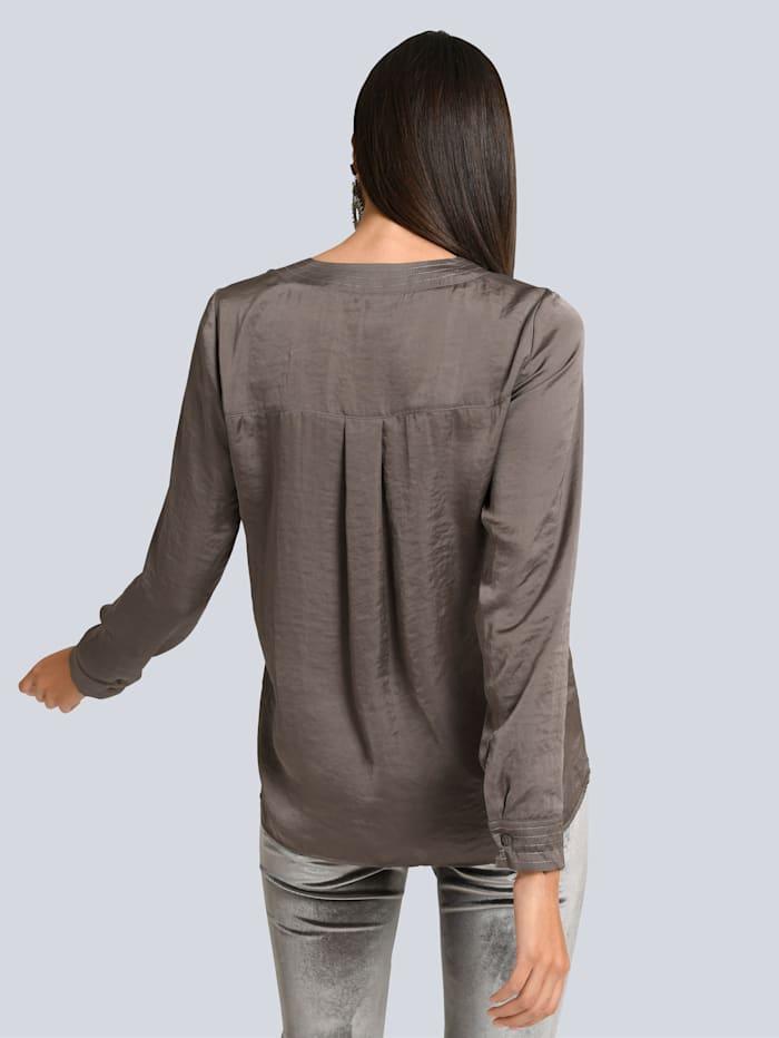 Bluse aus satinierter Viskose