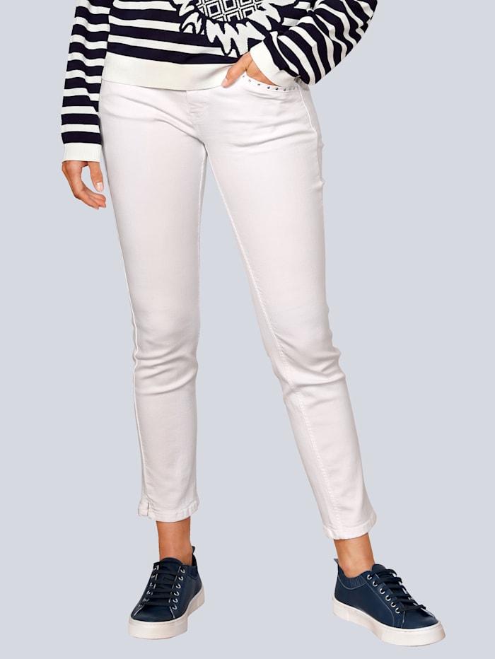 OUI Hose im sommerlichen Style, Weiß