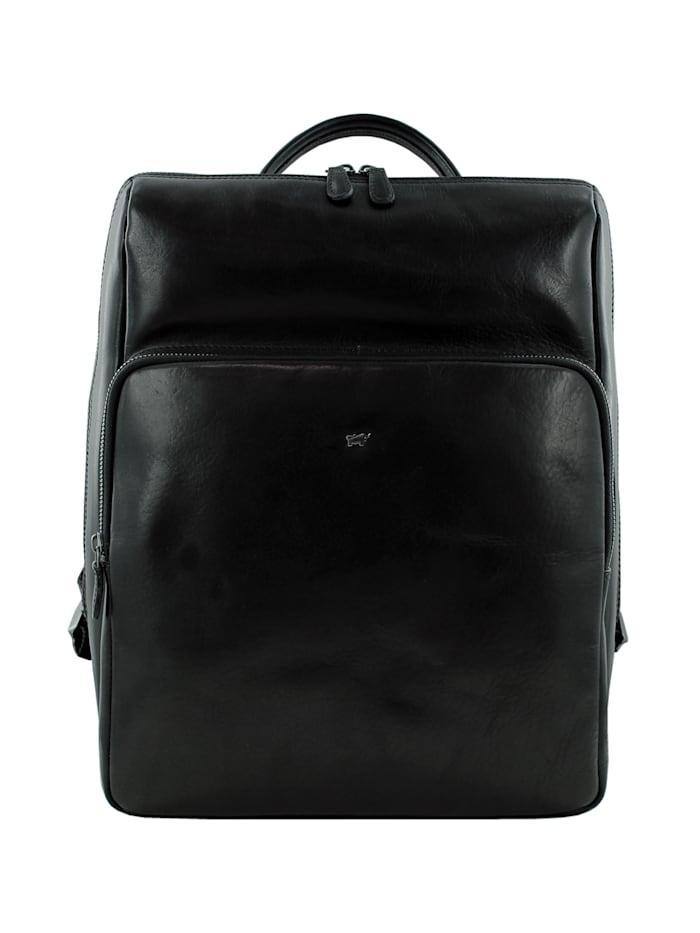 Braun Büffel Rucksack PARMA in elegantem Design, schwarz