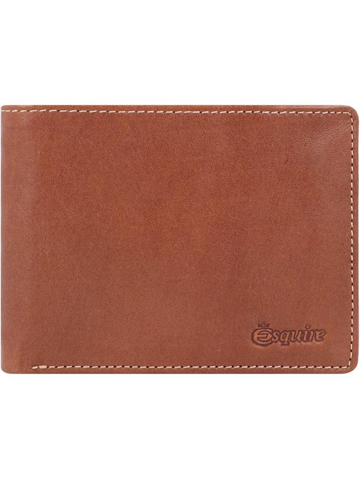 Esquire Denver Geldbörse RFID Leder 12 cm, cognac
