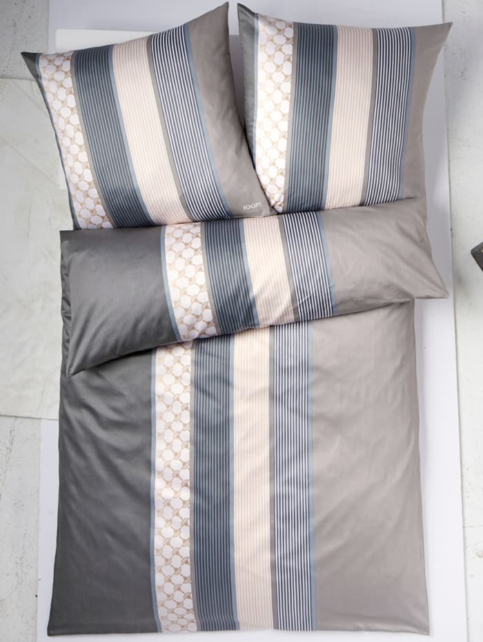 Mako Satin Bettwäsche 'Cornflower Stripes'