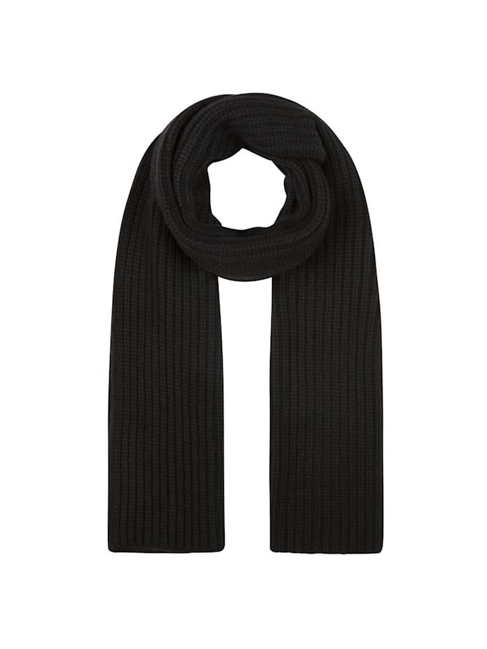 Codello Warmer Rippstrickschal mit Wolle, black