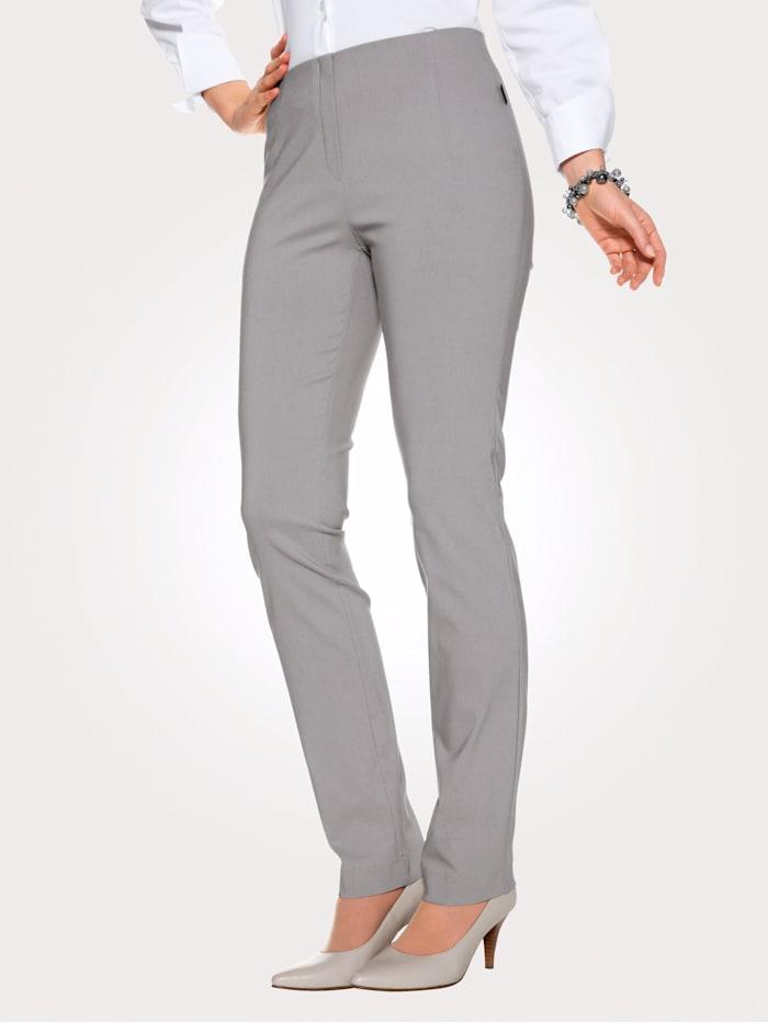 MONA Pantalon en matière extensible, Gris