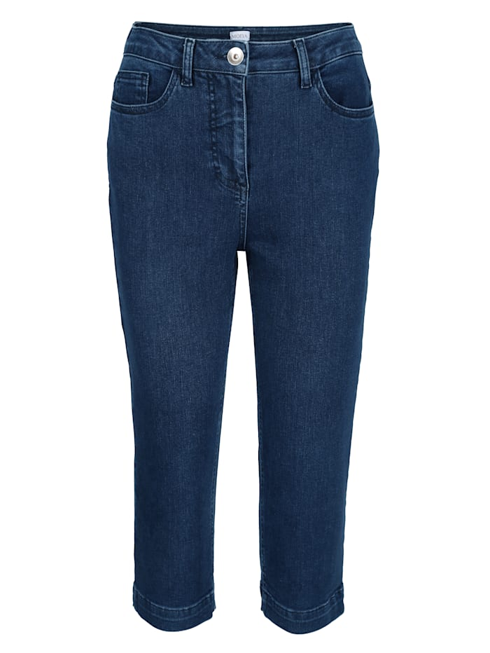 Capri jeans with side slits