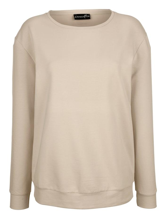Sweatshirt met laag aangezette mouwen