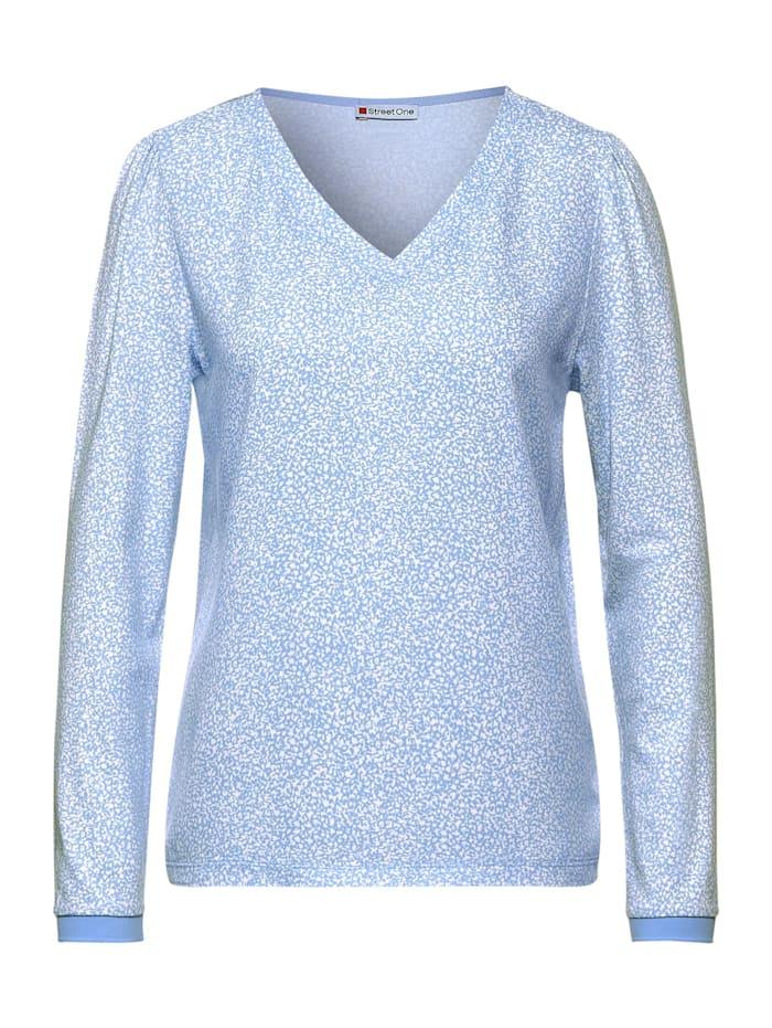 Street One Langarmshirt mit Muster, angel blue