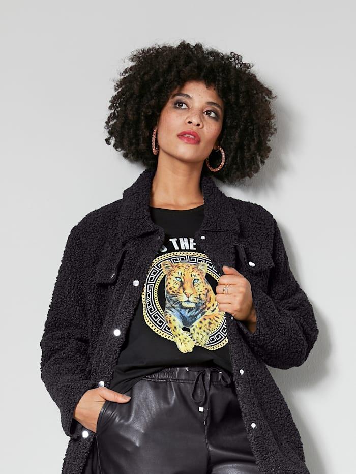 Angel of Style Shirt mit Printmotiv, Schwarz