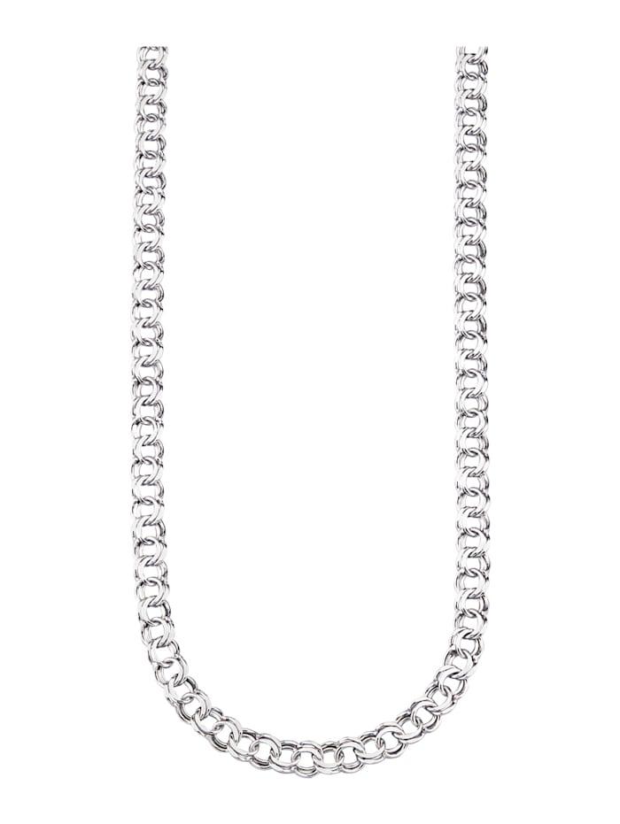 Fantasilänk av rodinerat silver 925, Silverfärgad