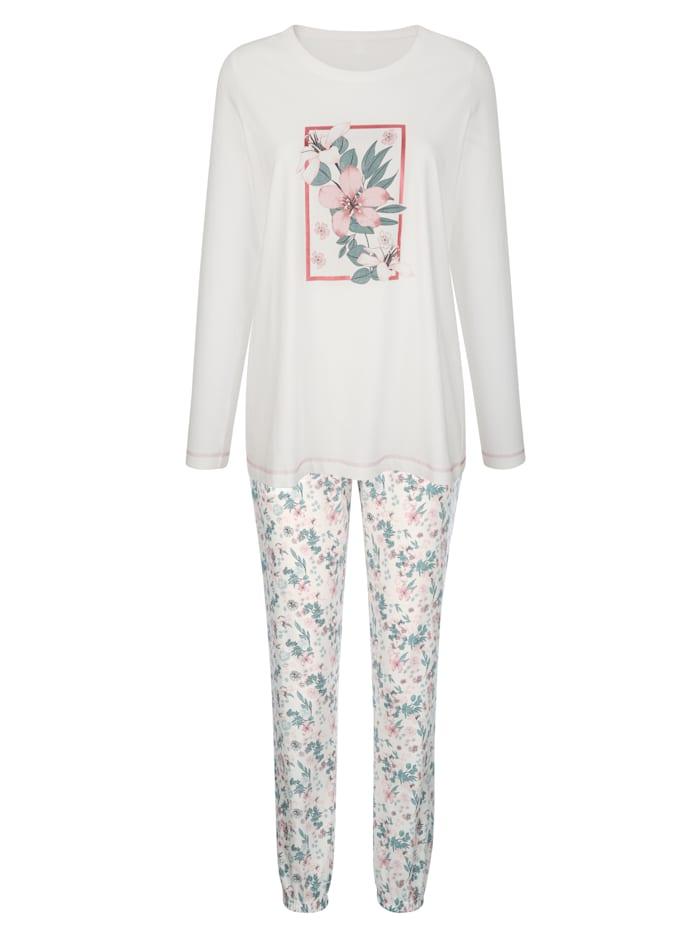 Schlafanzüge im 2er-Pack mit platziertem Blumenmotiv