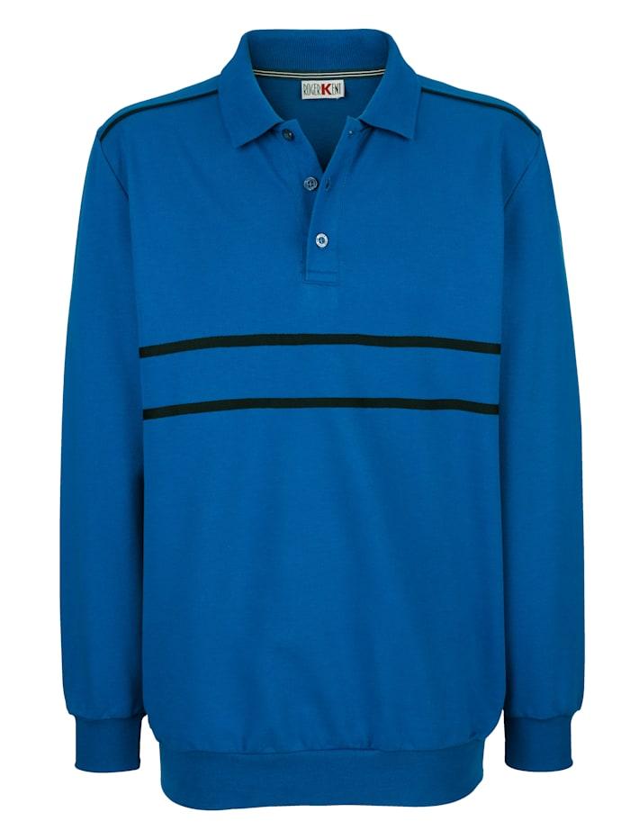 Roger Kent Sweatshirt med kontrasterande detaljer, Blå