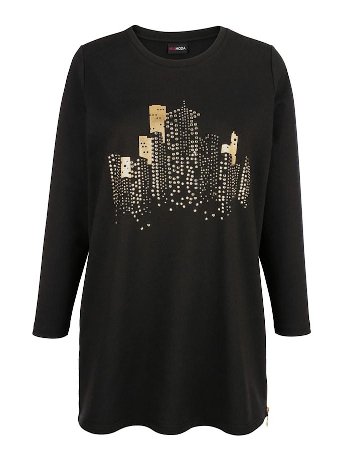Sweatshirt met rits aan de zoom