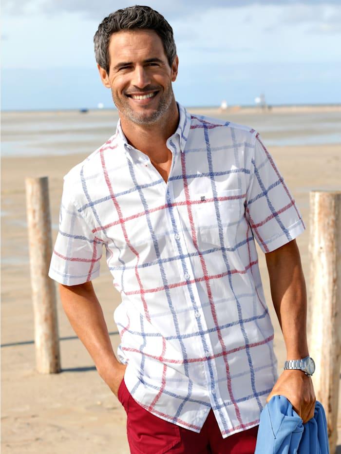 BABISTA Overhemd met maritiem ruitdessin, Wit/Rood/Blauw