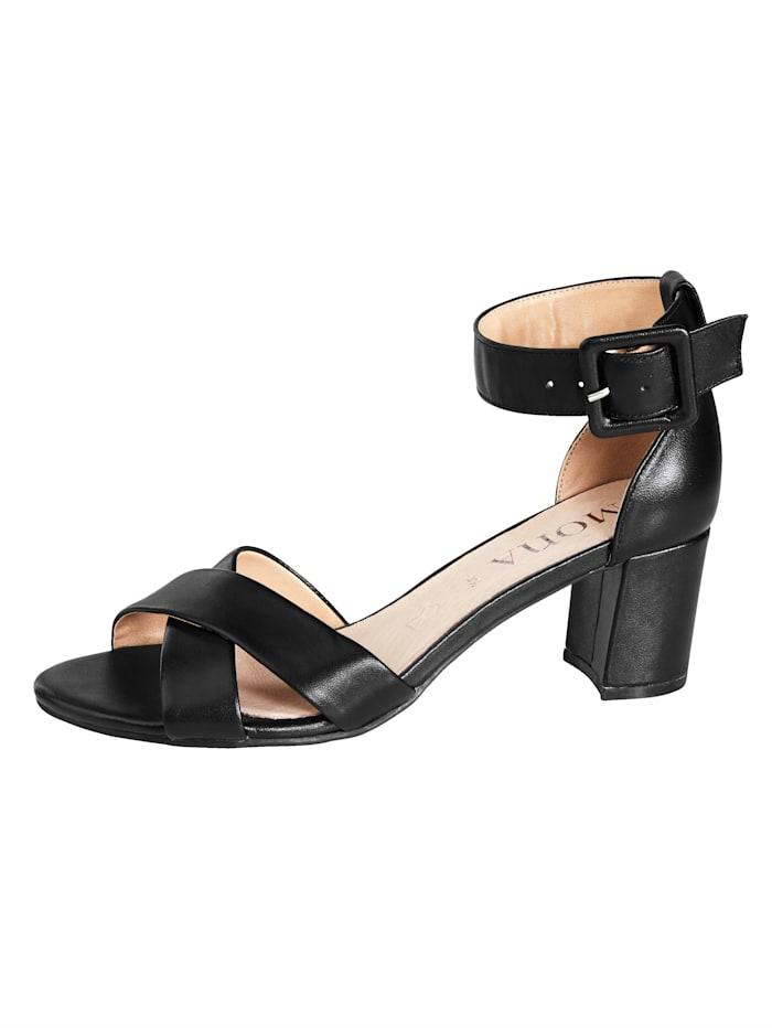 MONA Sandaalit, Musta