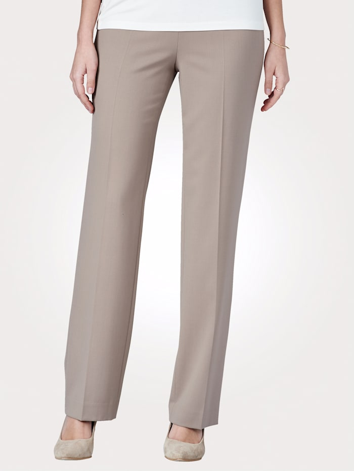 Artigiano Pull-on trousers made from an Italian wool blend, Light Brown