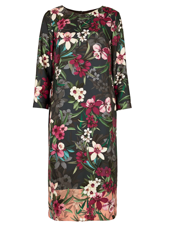 Dress with a floral border print