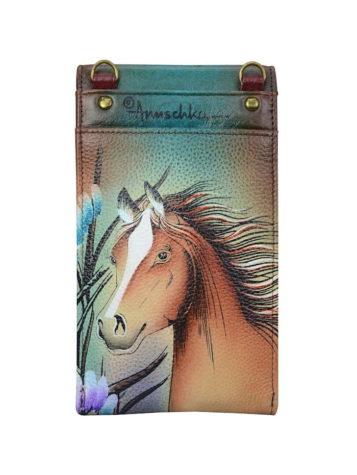 Brieftasche Free Spirit aus handbemaltem Leder