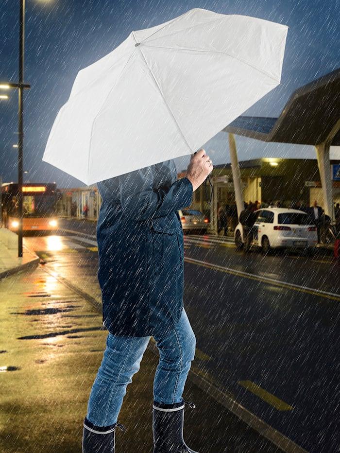 Wenko Regenschirm reflektierend, grau