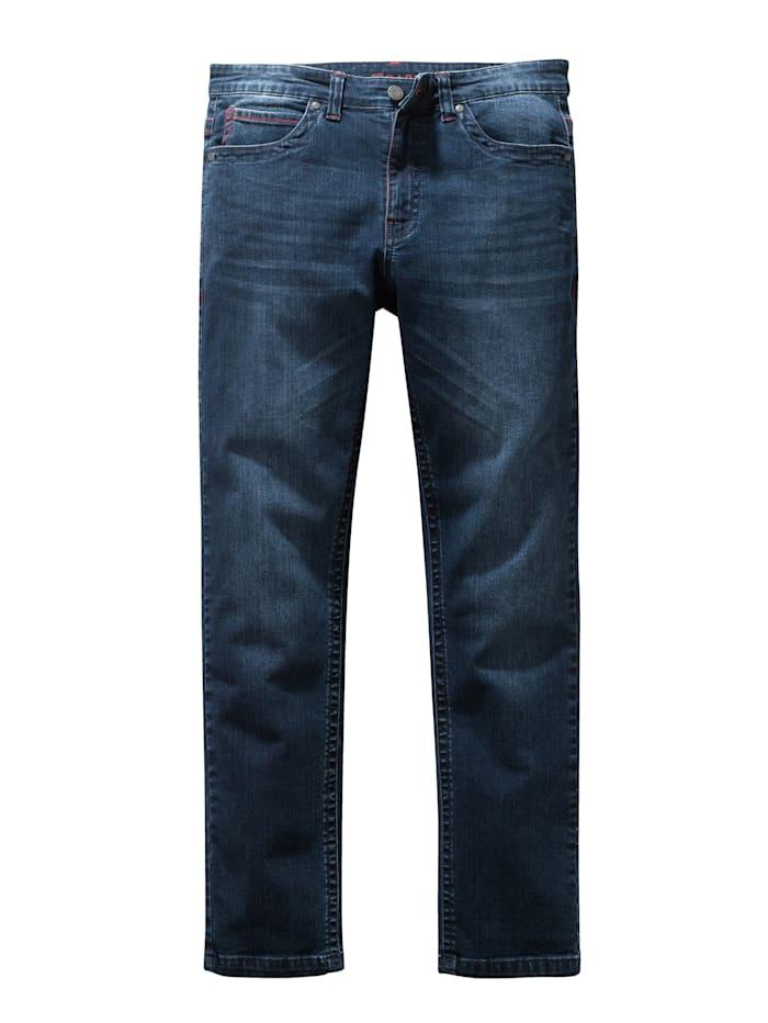 BABISTA Jeans med kontrastsömmar, Blå