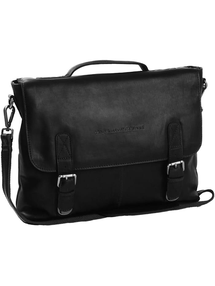 The Chesterfield Brand Wax Pull Up Jules Aktentasche Leder 38 cm Laptopfach, schwarz