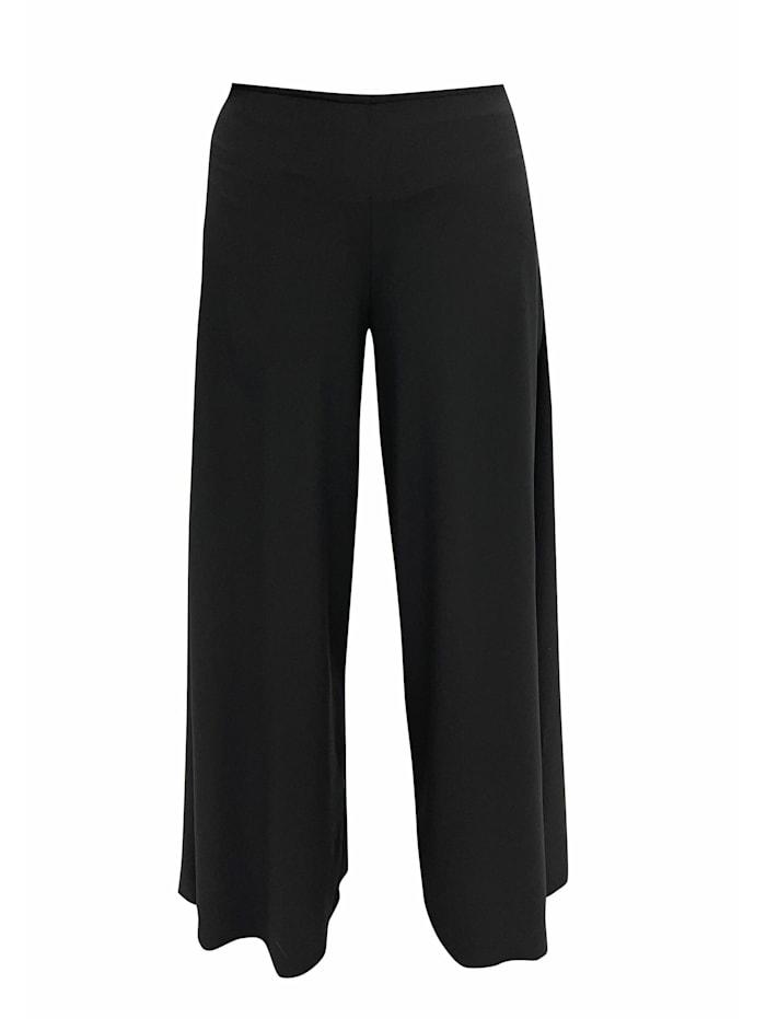 Wisell Palazzohose Weite Hose aus Chiffon, schwarz