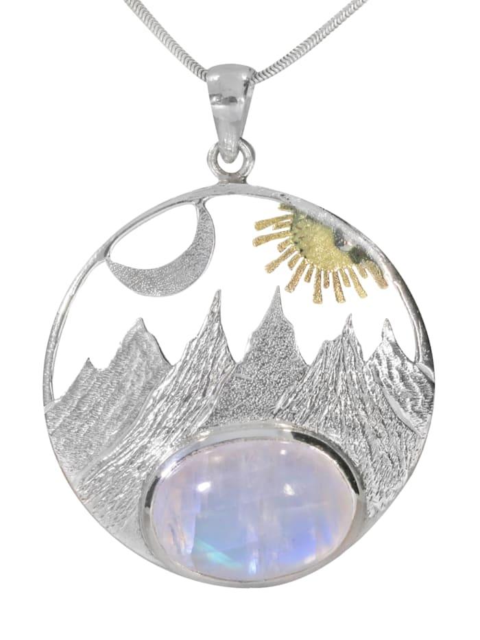1001 Diamonds Damen Schmuck  Anhänger 925 Silber bunt Sonne, bunt