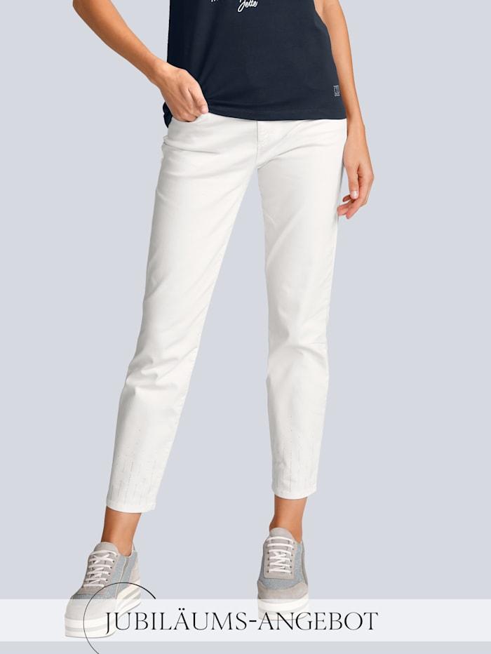 BRAX Jeans 'Ava S' im Alba Moda Exklusiv-Dessin, Weiß